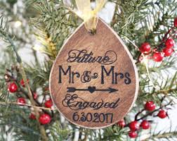 she said yes ornament engagement ornament