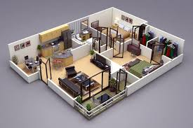house plan photo realistic 3d floor plan in 3ds max vray http