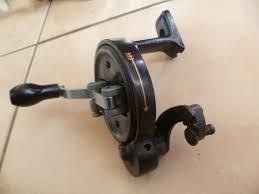 vintage hand crank bench grinder russell sharpener grinding