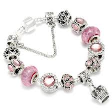 bracelet beads pandora style images Buy queen jewelry silver color charm bracelets jpg