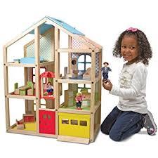 120 Best Dollhouse Plans Images by Amazon Com Melissa U0026 Doug Hi Rise Wooden Dollhouse With 15 Pcs
