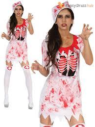 zombie doctor bloody nurse costume ladies mens halloween fancy