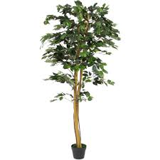 6ft artificial ficus tree best choice products