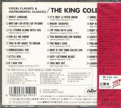 the nat king cole trio cd vocal classics instrumental