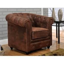 canapé cuir vieilli marron fauteuil en microfibre aspect cuir vieilli ches achat vente