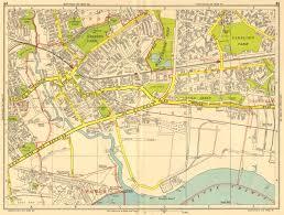 map az barking dagenham becontree upney ilford geographers a z 1956