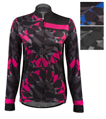 thermal cycling jacket aero tech mosaic women u0027s long sleeve thermal cycling jersey is