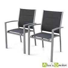 chaise jardin aluminium fauteuil jardin aluminium textilene achat vente pas cher