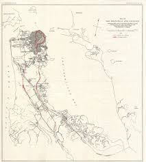 Map Of San Francisco by File 1907 Geological Survey Map Of San Francisco Peninsula After