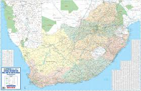 a picture of south africa map general information wall map south africa mapstudio