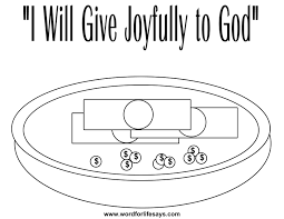 tithing coloring page sacrificial joyful giving u201d sunday lesson 2 corinthians 8