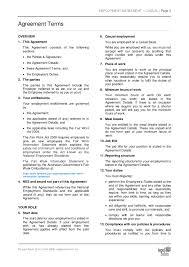 australian employment contract template eliolera com