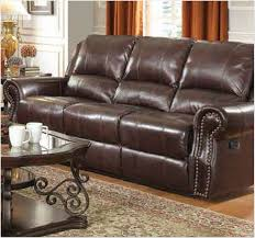 faux leather reclining sofa furniture furniture america thaerin transitional bonded leather