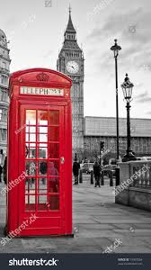 traditional red phone booth london big stock photo 73953304