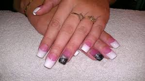 black and white french nail designs