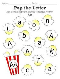 dot the letter popcorn themed popcorn worksheets and popcorn theme