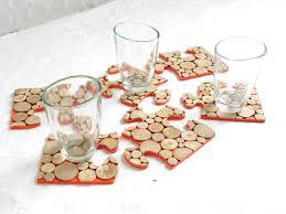 cuisine et creation ensemble 2 en 1 de six dessous de verre transformable en dessous de