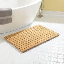 Curved Bath Mat Bamboo U0026 Teak Bath U0026 Shower Mats Signature Hardware