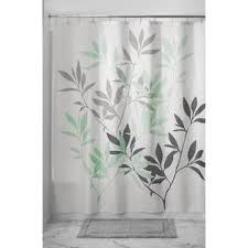 White On White Shower Curtain Green Shower Curtains You U0027ll Love