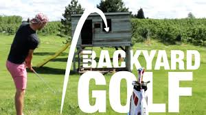 backyard golf set home outdoor decoration