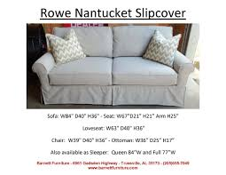 Rowe Sectional Sofas by Barnett Furniture Slipcover Sofas Sectionals Chair And Ottoman