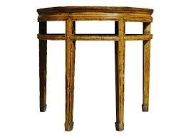 furniture stunning used half moon console table astounding half