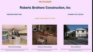 sarasota kitchen remodeling contractor roberts brothers