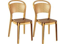 chaises jaunes lot de 2 chaises design jaune transparentes soubi design sur sofactory