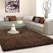 tapis cuisine design tapis shaggy brun moderne tapis design uni en polypropylène vasco