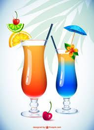 bicchieri cocktail bicchieri da cocktail illustrazione scaricare vettori gratis