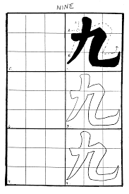 how to write numbers in a paper chinese calligraphy asia for educators columbia university