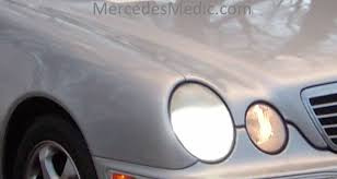 mercedes light replacement how to replace upgrade headlight bulbs on 1996 2002 mercedes