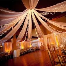 tenture mariage 100 mètres blanche décoration mariage pas cher - Tenture Plafond Mariage