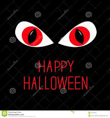 evil red eyes in dark night happy halloween card stock