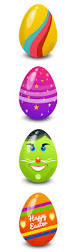 easter eggs vector psd graphicsfuel