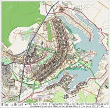map of brasilia brasilia brazil city map aerial view stock photo picture and