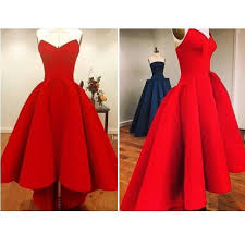 Red Cocktail Dress Plus Size Dw 2016 Bright Red Prom Dresses Hi Lo Prom Dresses Plus Size Satin