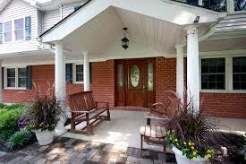 interior elegant front porch portico design ideas with brick