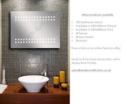 Demister Bathroom Mirrors by 60 Led Demister Illuminated Bathroom Cabinet Mirror With Shaver