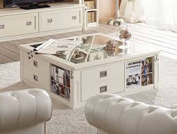 White Wood Coffee Table White Wood Coffee Table Square With Drawers And Book Storage
