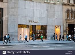 prada luxury fashion designer store at fifth avenue manhattan