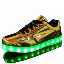 gold light up sneakers 8 colors shining shoes with led laser light fashion casual