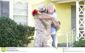 Army Thanksgiving Leave Wife Welcoming Husband Home On Army Leave Stock Footage Video