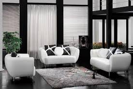 Black And White Chair And Ottoman Design Ideas Living Room Black And White Living Room Decor Ideas With Simple