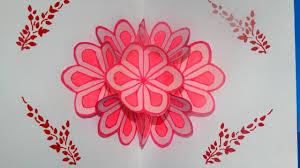 diy 3d flower pop up card tutorial diy mother u0027s day card youtube