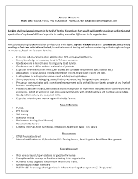 performance tester resume my resume