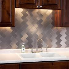 stainless steel backsplash kitchen stainless steel penny tile backsplash granite paint colors with