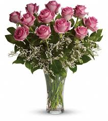 burlington florist make me blush dozen stemmed pink roses philadelphia