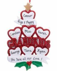 Grandparent Christmas Ornaments Buy Personalized Gingerbread Grandparents 7 Grandkids