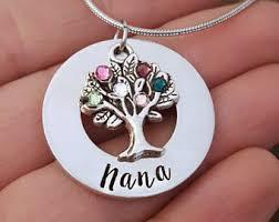 grandmother necklaces nana necklace etsy
